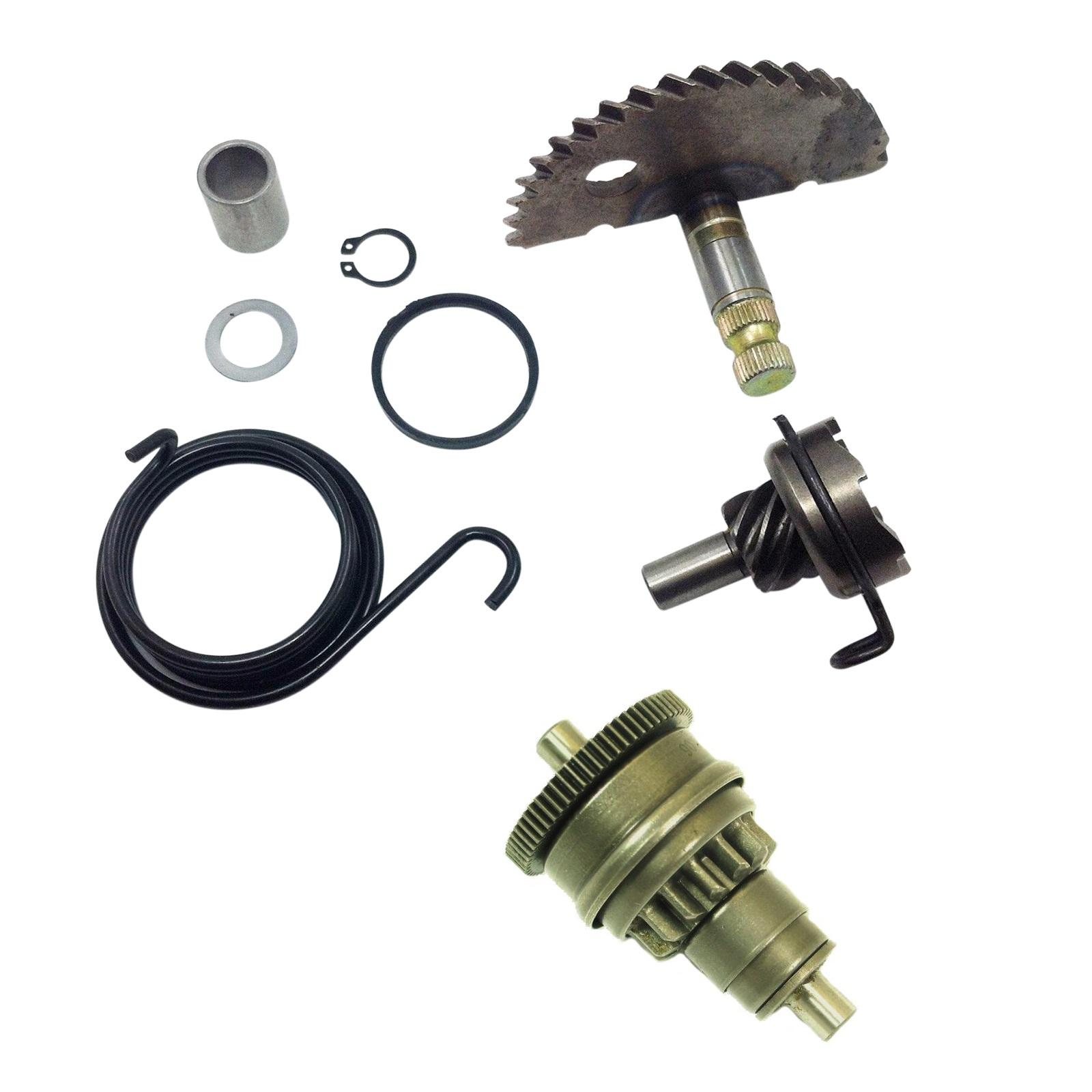 Details about GY6 49cc 50cc Kick Start Gear Kit Starter Motor Clutch Gear  Bendix Scooter Moped