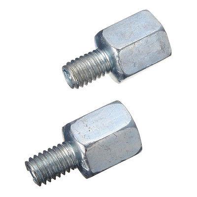 2PCS Motorcycle Mirror Thread Converter Screws M10 M8 10mm to 8mm Adaptor Chrome