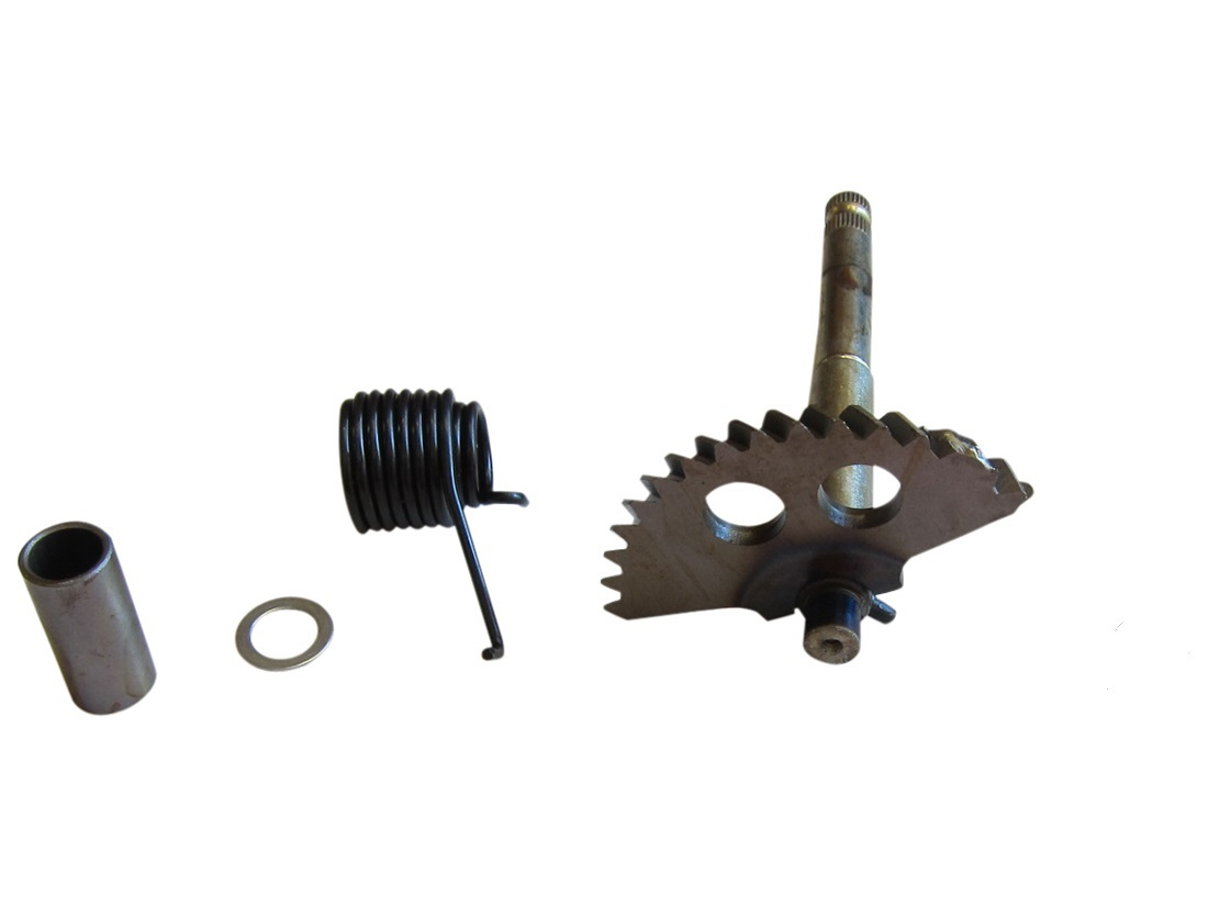 Spindle Shaft Gearbox : Quot kick start gear spindle shaft for gy cc scooters
