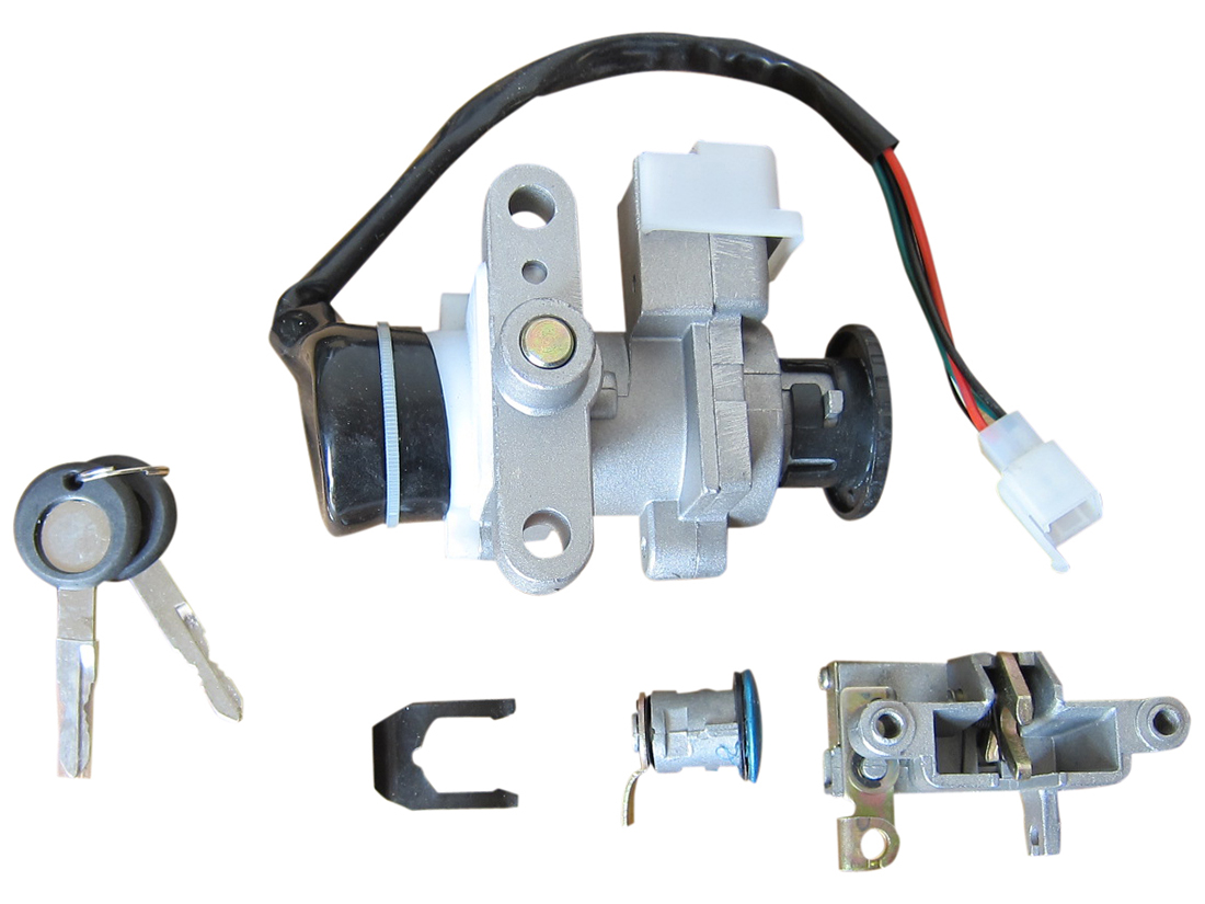 ignition lock key switch set chinese scooter gy6 4 stroke. Black Bedroom Furniture Sets. Home Design Ideas