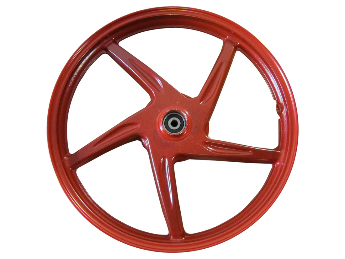 Front Aluminum Red Mag Wheel Rim Tubeless Disc DOT Scooter Moped MT1.50x14