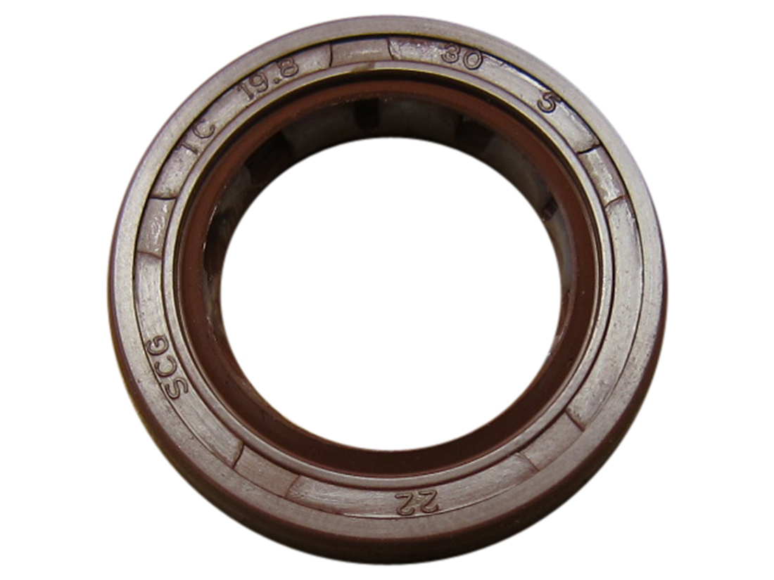 Shaft Oil Seal TC 19.8x30x5 Rubber Covered Double Lip With Garter Spring