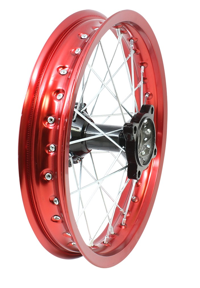 "Red Wheel Weiser Online Bookstore: RED Annodized Aluminum- 14"" Apollo Rear Rim Wheel Disc Brake"