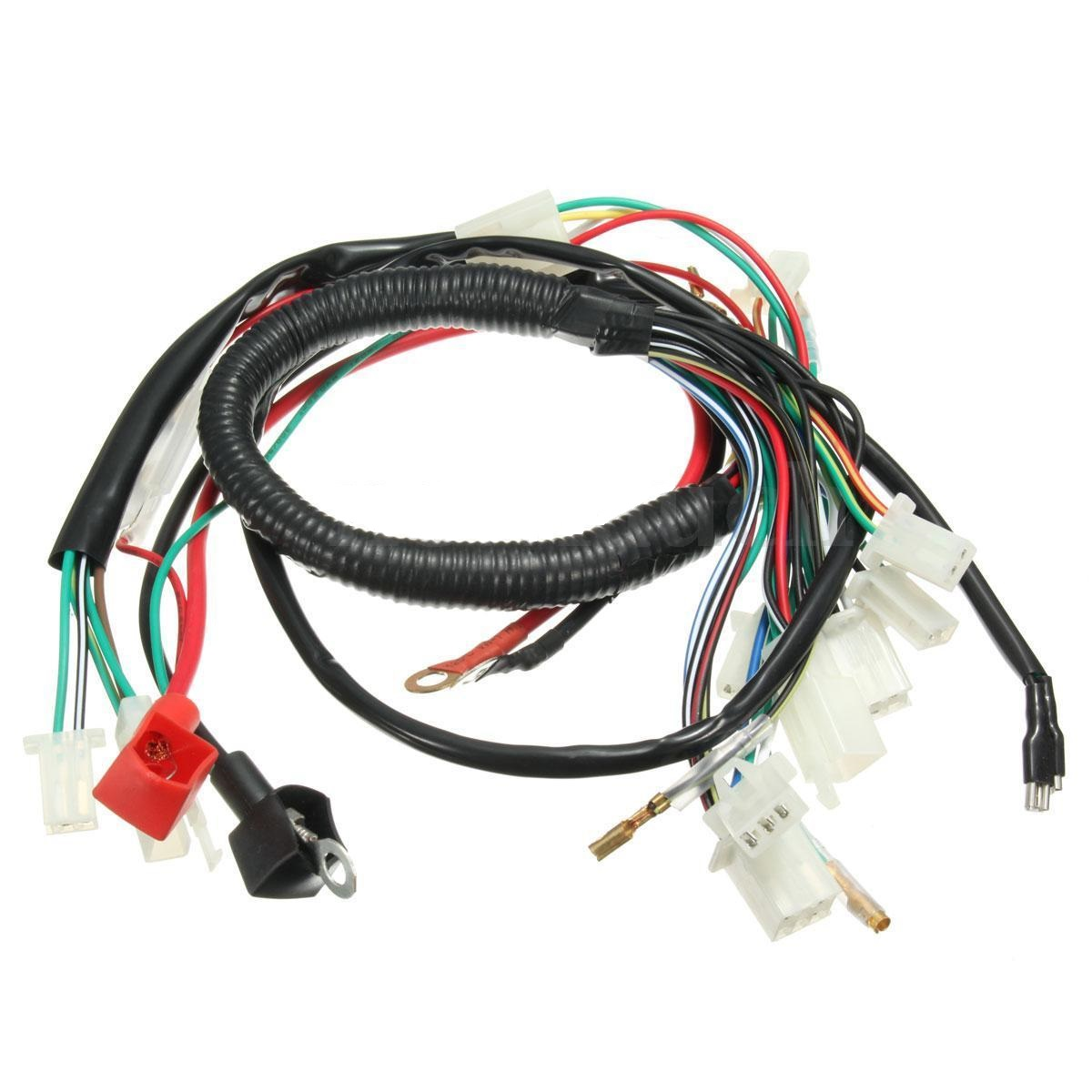 Details about 70cc 110cc 125cc Full Electric Wiring Harness ATV Dirt on
