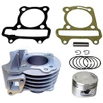 BBK 80cc GY6 - ONLY: Cylinder, Piston & Rings, Wrist pin and Cirq Clips
