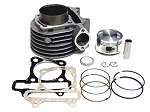 Cylinder and Piston, Ring Kit, 57mm GY6 150cc..