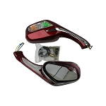 Mirror with Turn Signal light, Magnum 150RL-RED
