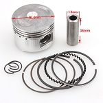 Piston & Ring Set - 80cc, wrist pin, Cirq clips