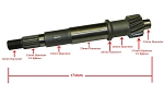 Final Drive Shaft 150cc GY6 173mm (Version 1)