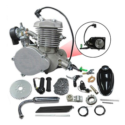 Tuned-Fire 66cc/80cc 2-Stroke Bicycle Engine Bike Kit - Silver