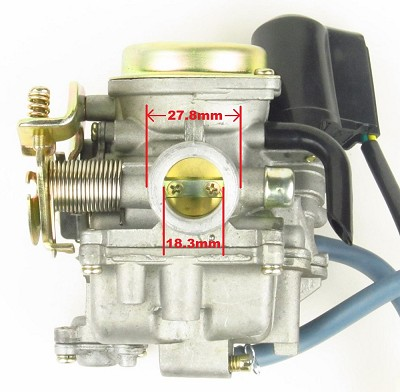 Carburetor, PD18, Metal top, 50-90cc Scooter
