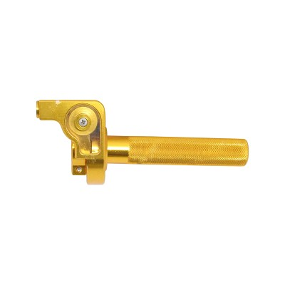 CNC Throttle Grip Assy - GOLD - Dirt bike Anodized Aluminum