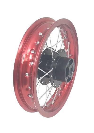 "RED - 12"" Rear Rim Wheel Disc Brake SSR SDG KC 107 110 125cc Pit Bike"