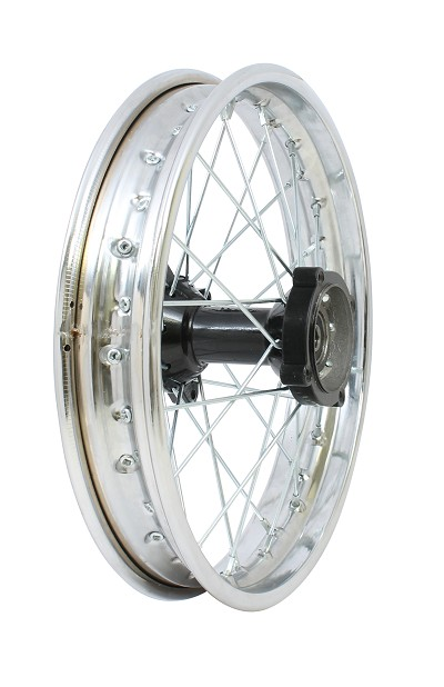 "CHROME - 12"" Apollo Rear Rim Wheel Disc Brake"